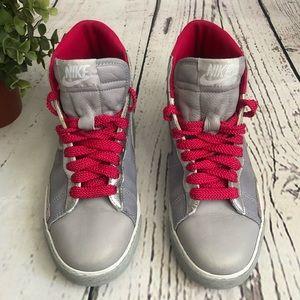 Nike ID High Top Gray Pink Silver SZ 8 Wm